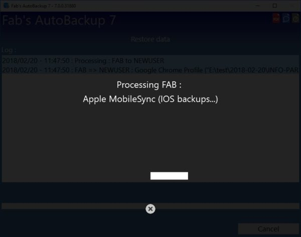 How to restore profile from Fab's AutoBackup 7 Pro